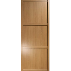"Shaker Sliding Wardrobe Door 914mm (36"") Windsor Oak Panel Door"